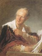 Jean Honore Fragonard Portrait of Diderot (mk05) oil painting picture wholesale