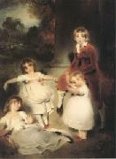 LAWRENCE, Sir Thomas The Children of John Angerstein John Julius William (1801-1866)Caroline Amelia (b.1879)Elizabeth Julia and Henry Frederic (mk05) oil painting artist