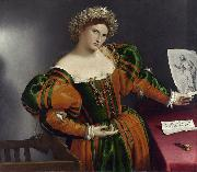 Lorenzo Lotto Portrait of a Lady as Lucretia (mk08) oil painting picture wholesale