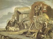 Louis Le Nain The Cart or the Return from Haymaking (mk05) oil painting artist