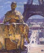 Louis Welden Hawkins THe Eiffel Tower,Seen from the Trocadero (mk06) oil painting