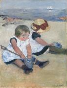 Mary Cassatt Two Children on the Beach (mk09) oil painting picture wholesale