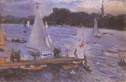 Max Slevogt The Alster at Hamburg (mk09) oil painting picture wholesale