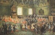Nicolas Lancret The Seat of Justice in the Parlement of Paris (1723) (mk05) oil painting picture wholesale