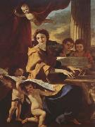 Nicolas Poussin St Cecilia (mk08) oil painting picture wholesale