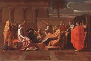 Nicolas Poussin Moses Trampling on the Pharaoh's Crown (mk08) oil painting picture wholesale
