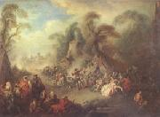 Pater, Jean-Baptiste A Country Festival with Soldiers Rejoicing (mk05) oil painting picture wholesale
