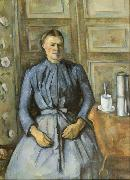 Paul Cezanne Woman with Coffee Pot (mk09) oil painting picture wholesale