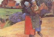 Paul Gauguin Breton Peasants (mk09) oil painting picture wholesale