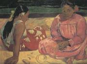 Paul Gauguin Tahitian Women on the beach (mk07) oil painting reproduction