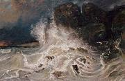 Paul Huet Breakers at Granville (mk09) oil painting picture wholesale