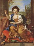 Pierre Mignard Girl Bloing Soap Bubbles (mk08) oil painting