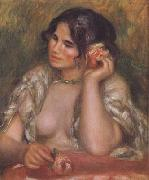 Pierre Renoir The Toilette Woman Combing Her Hair (mk06) oil painting picture wholesale