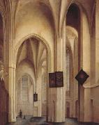 Pieter Jansz Saenredam Church Interior in Utreche (mk08) oil painting artist