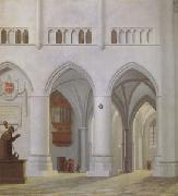 Pieter Jansz Saenredam Interior of the Church of St Bavon at Haarlem (mk05) oil painting artist