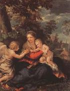 Pietro da Cortona Holy Family Resting on thte Flight to Egypt (mk08) oil painting picture wholesale
