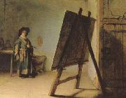 REMBRANDT Harmenszoon van Rijn The Aristst in his Studio (mk08) oil painting picture wholesale