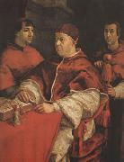 Raphael Pope Leo X with Cardinals Giulio de'Medici (mk08) oil painting picture wholesale