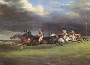 Theodore   Gericault The Derby at Epsom in 1821 (mk05) oil painting picture wholesale