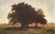 Theodore Rousseau Group of Oaks at Apremont in the Forest of Fontainebleau (mk05) oil painting picture wholesale