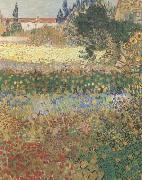 Vincent Van Gogh Garden in Bloom (mk09) oil painting picture wholesale
