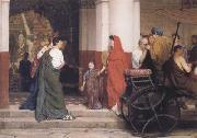 Alma-Tadema, Sir Lawrence Entrance to a Roman Theatre (mk23) oil painting picture wholesale