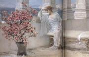 Alma-Tadema, Sir Lawrence Her Eyes Are with her Thoughts and They Are Far Away (mk23) oil painting picture wholesale