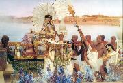 Alma-Tadema, Sir Lawrence The Finding of Moses (mk23) oil painting picture wholesale