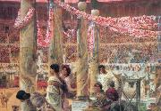 Alma-Tadema, Sir Lawrence Caracalla and Geta (mk23) oil painting picture wholesale