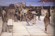 Alma-Tadema, Sir Lawrence A Dedication to Bacchus (mk23) oil painting picture wholesale