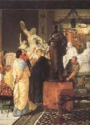 Alma-Tadema, Sir Lawrence A Sculpture Gallery in Rome at the Time of Augustus (mk23) oil painting picture wholesale