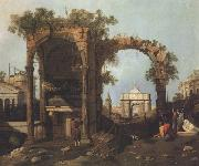 Canaletto Paesaggio con rovine (mk21) oil painting picture wholesale