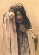 Carlos Schwabe Study for The Wave female figure left of the central figure (mk19) oil painting picture wholesale