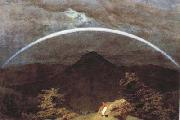 Caspar David Friedrich Mountain Landscape with Rainbow (mk10) oil painting picture wholesale
