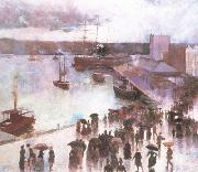 Charles conder Departure of thte OrientCircularQuay (nn02) oil painting artist