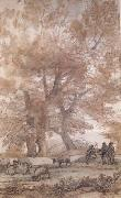 Claude Lorrain Trees,Figures,and sheep (mk17) oil painting picture wholesale