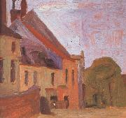 Egon Schiele Houses on the Town Square in Klosterneu-burg (mk12) oil painting picture wholesale