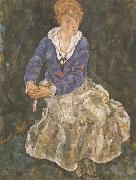 Egon Schiele Portrait of the Artist's Wife,Seated (mk12) oil