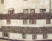 Egon Schiele Faqade of a House (mk12) oil painting picture wholesale