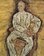 Egon Schiele Portrait of Victor Ritter von Bauer (mk12) oil painting picture wholesale
