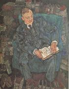 Egon Schiele Portrait of Dr.Hugo Koller (mk12) oil painting artist