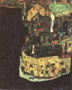 Egon Schiele City on the Blue River II (mk12) oil