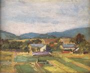 Egon Schiele Landscape in Lower Austria (mk12) oil