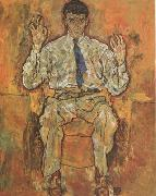 Egon Schiele Portrait of the Painter Paris von Gutersloh (mk12) oil painting picture wholesale