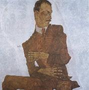 Egon Schiele Portrait of Arthur Roessler (mk12 oil painting picture wholesale