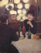 Federico zandomeneghi At the Cafe de la Nouvelle Athenes oil painting artist