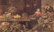 Frans Snyders Fruit and Vegetable Stall (mk14) oil painting picture wholesale
