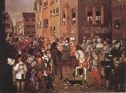 Franz Pforr Entry of Emperor Rudolf of Habsburg into Basel in 1273 (mk22) oil painting artist
