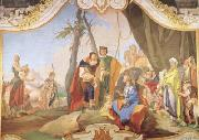 Giovanni Battista Tiepolo Rachel Hiding the Idols from her Father Laban (mk08) oil painting picture wholesale