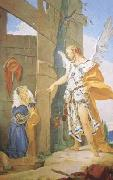 Giovanni Battista Tiepolo Sarah and the Archangel (mk08) oil painting picture wholesale